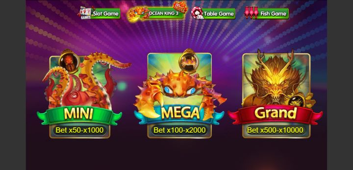 Pilihan Menu Permainan Ocean king 3 DeMacao White Label Online Gaming
