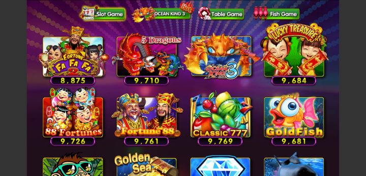 Pilihan Menu Permainan Slot Game DeMacao White Label Online Gaming
