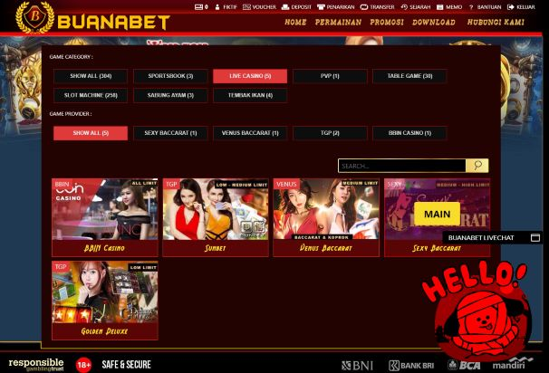 Pilihan provider layanan live casino sexy baccarat White Label
