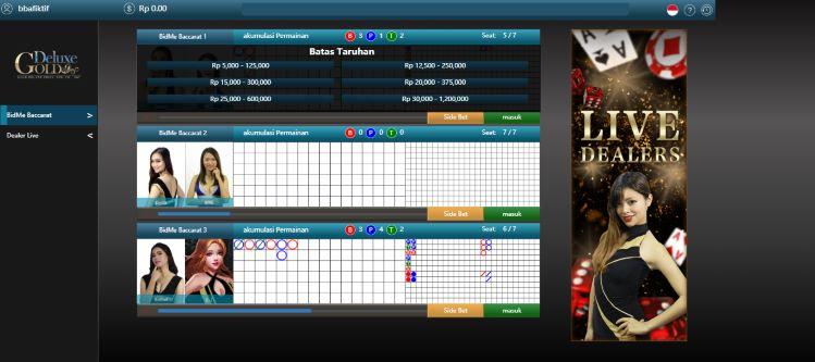 Pilih Batas Taruhan Anda di Meja Arena Golden Deluxe Live Casino