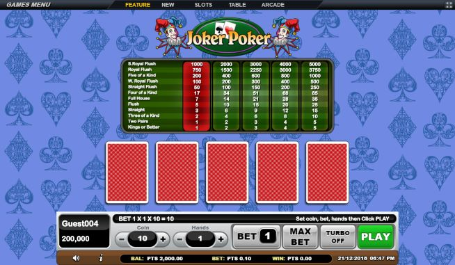 Joker Poker GSoft Online Gaming