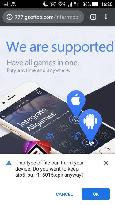Konfirmasi Untuk Download Mobile Casino Online